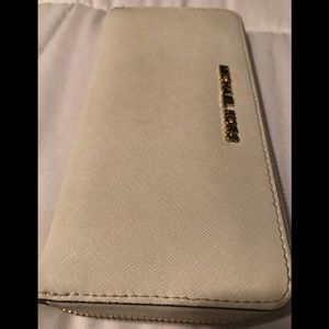 Michael Kors continental optic white wallet